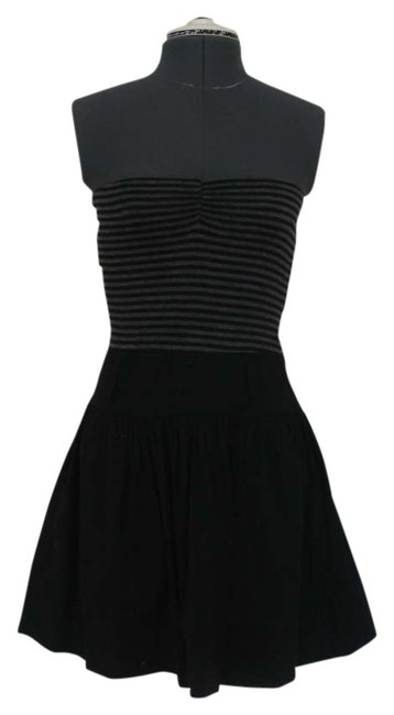 Preload https://item1.tradesy.com/images/blackgrey-striped-knee-length-short-casual-dress-size-0-xs-306470-0-0.jpg?width=400&height=650