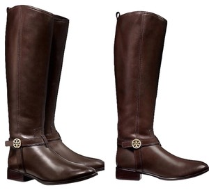 Tory Burch Leather Dark Brown Boots
