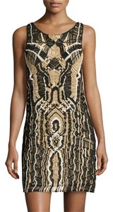 Diane von Furstenberg Woven Metallic Night Out Dress