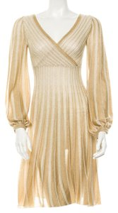 Missoni Beige Knit Striped Dress