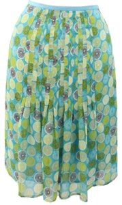 Sigrid Olsen Woman Designer Oslen In Color Ladies Flare Skirt Multicolor Lemon Printed