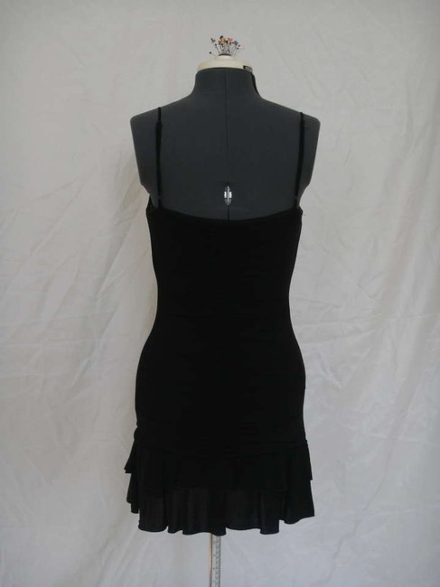 BCBGMAXAZRIA Ruched Ruching Tiered Bra Ruffled Little Lbd Mini Dress