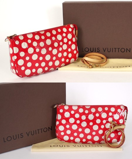 Louis Vuitton Limited Clutch Satchel in Red