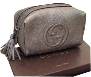 Gucci 100% Authentic Gucci Leather Cosmetic Bag 308636 - 498879