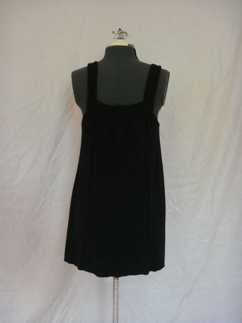 SOLOW short dress Black Bubble Button Gathered on Tradesy