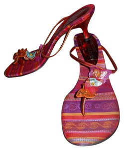 Donald J. Pliner Leather red multi Sandals