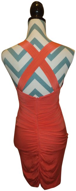 Preload https://item5.tradesy.com/images/bebe-dress-coral-306564-0-1.jpg?width=400&height=650