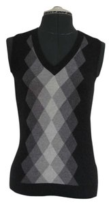 Banana Republic Ombre Vest Soft Checkered Diamond Sweater