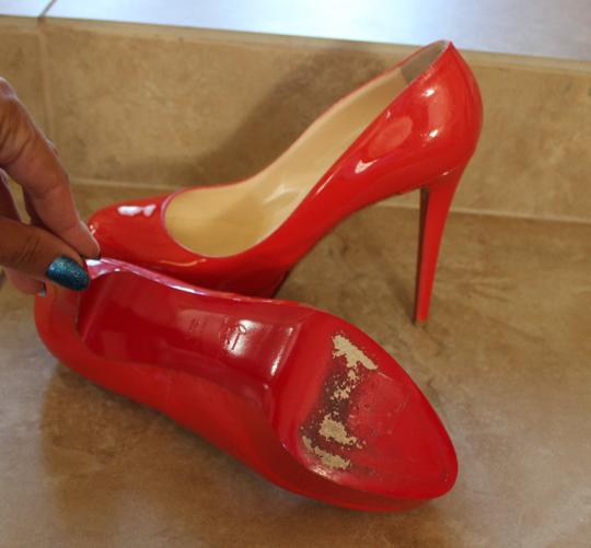 Christian Louboutin Patent Leather Platform Bianca So Kate Pigalle Red Pumps