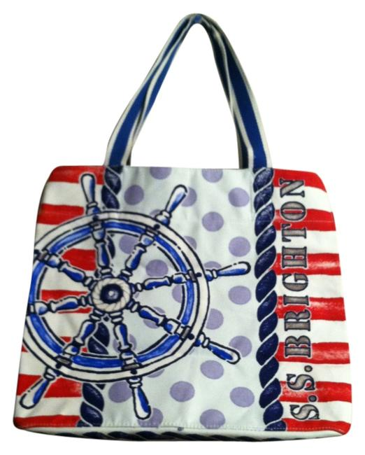 Item - Red White Blue Multi Canvas Beach Bag
