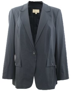 Bill Blass New York Bill Blass New York Woman Designer Black Formal One Buttoned Blazer Size 14