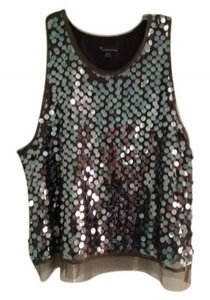 Forever 21 Top Dark Green and Sequin