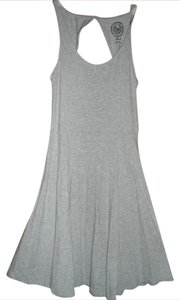 SO short dress gray Back Cut-out Versatile on Tradesy