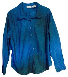 White Stag Button Down Shirt Blue