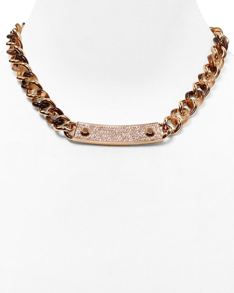 Michael kors rose gold and tortoise necklace 40 off for Michael b jewelry death