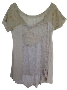 Free People Top Grey brown