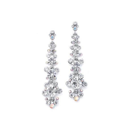 Mariell Linear Earrings With Cascading Bubbles 170e-cr