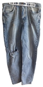 Topshop Boyfriend Cut Jeans-Distressed