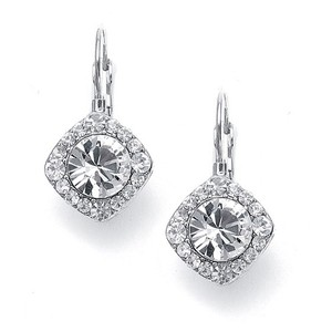 Mariell Tailored Solitaire Drop Earrings 209e-cr