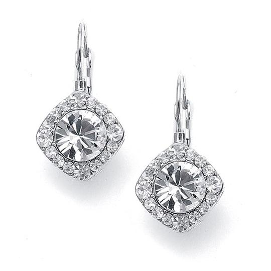 Mariell Silver Tailored Solitaire Drop 209e-cr Earrings