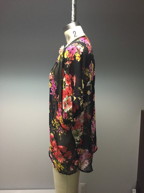 Urban Outfitters Roses Sheer Duster Bohemian Short Sleeves Slouch Hippie Retro 90s Cardigan