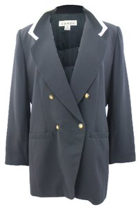 Chaus CHAUS Woman Designer Navy Blue Sailor Inspired Dressy Formal Blazer Size 14
