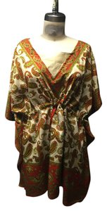 Anthropologie Bohemian Tunic Cover Up Top Earth tone