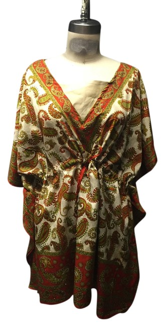 Anthropologie Bohemian Tunic Cover Up Indian Tunic Hippie Top Earth tone
