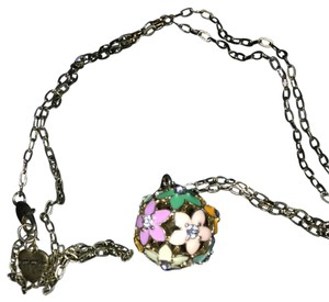 Betsey Jenney Flower Globe Necklace