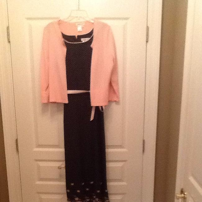 Black And Pink Maxi Dress by Coldwater Creek