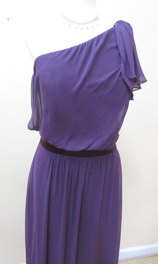 After Six Aubergine Chiffon 6622 Formal Bridesmaid/Mob Dress Size 10 (M)