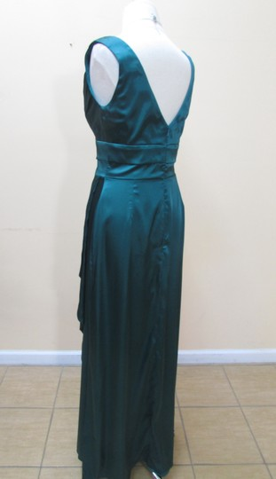 After Six Emerald Charmeuse 6625 Formal Bridesmaid/Mob Dress Size 8 (M)