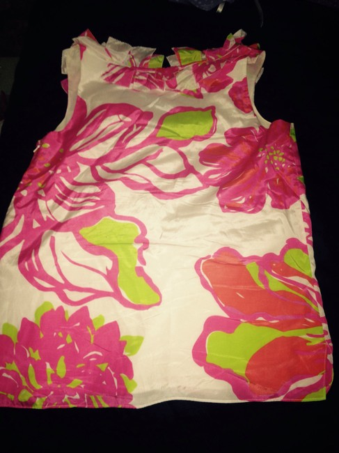 Lilly Pulitzer Pink Pink S Pink Yellow S White S Sleeveless S S Floral Casual Tunic