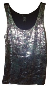 INC International Concepts Sequin Top Black