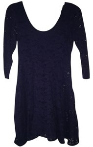 Free People short dress Blue Navy on Tradesy