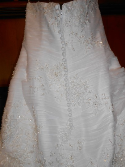 Allure Bridals Ivory Satin/Lace/Tulle Edition P907 Modern Wedding Dress Size 10 (M)