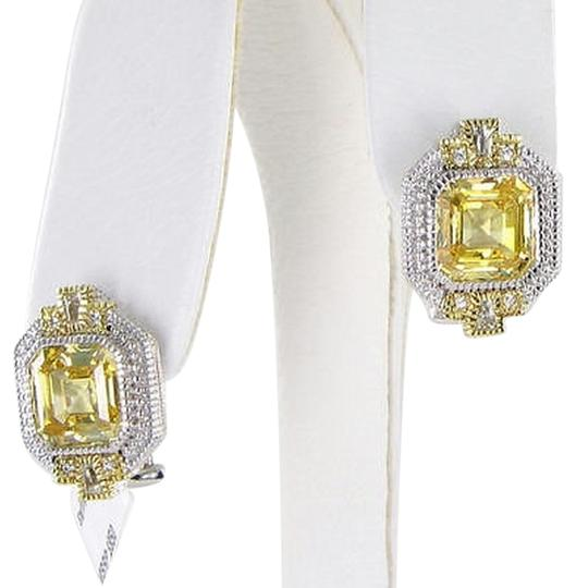 Judith Ripka Judith,Ripka,Estate,Earrings,Canary,Ascher,White,Topaz,Sapphires