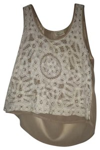 Urban Outfitters Crop Crop Summer Festival Top creme white