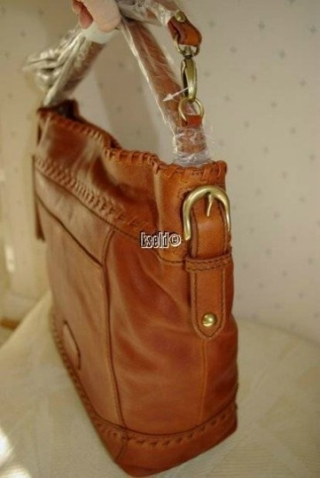 Isabella Fiore Leather Hobo Bag