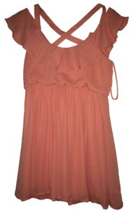 Tobi short dress peach Orange on Tradesy