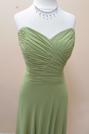 After Six Citron Lux Chiffon 6639 Formal Bridesmaid/Mob Dress Size 10 (M)