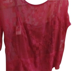Kain Label W/cami Camisole Silk Sheer Top Fuchsia