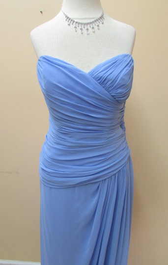 After Six Periwinkle Lux Chiffon 6641 Formal Bridesmaid/Mob Dress Size 12 (L)