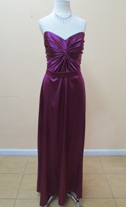After Six Persian Plum Lux Chiffon 6642 Formal Bridesmaid/Mob Dress Size 12 (L)