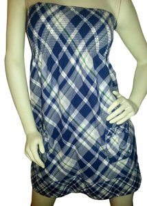 Abercrombie & Fitch short dress blue & white plaid with a touch of green on Tradesy