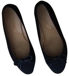 Chanel 37 6.5 Leather Cc Black Flats