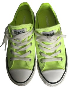 Converse All Star Girls Youth Neon Green Athletic