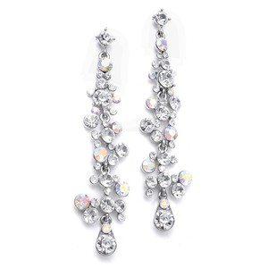 Mariell Silver Dramatic with Cascading Bubbles 3127e-ab Earrings