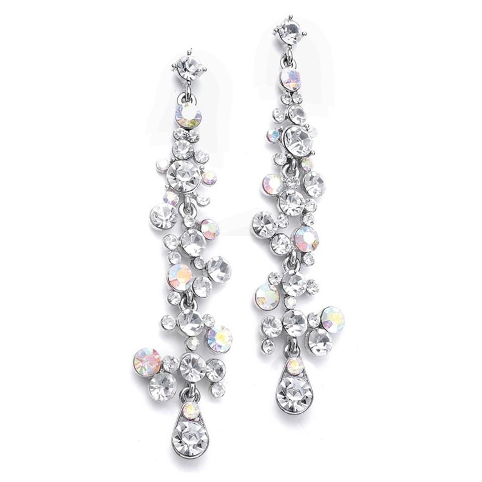 Mariell Silver Dramatic With Cascading Bubbles 3127e Ab Earrings