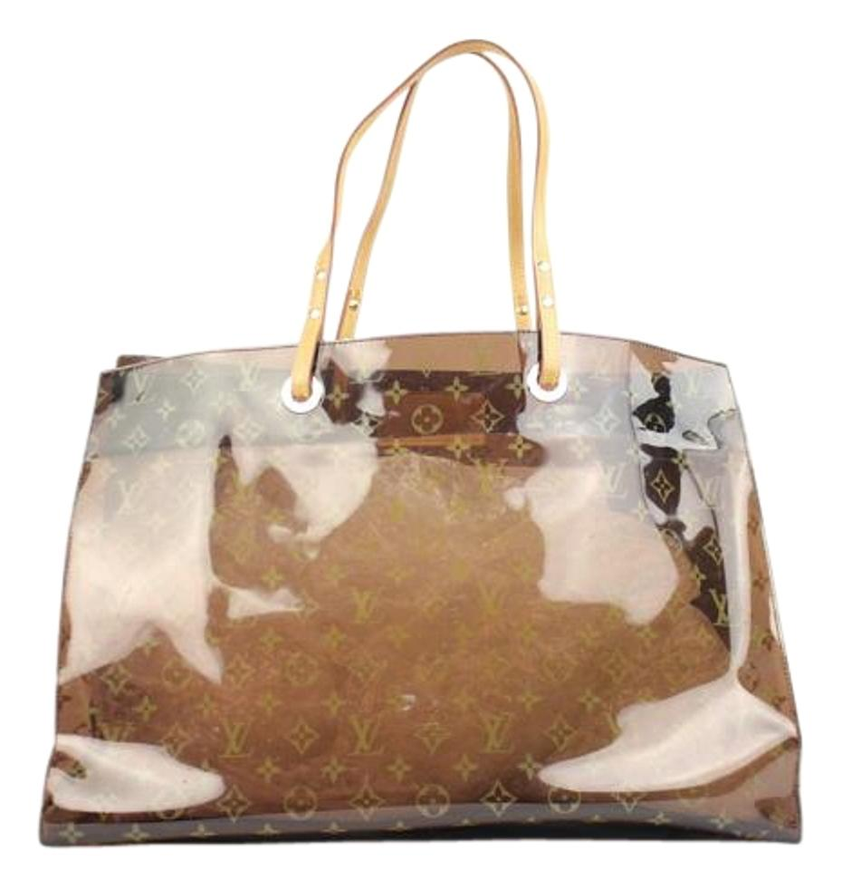 646f5ee29a49 Louis Vuitton Neverfull See Through Beach Summer Clear Tote in Monogram …